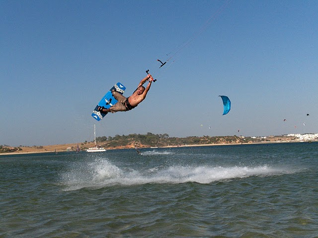 Learning to kite surf in Lagos