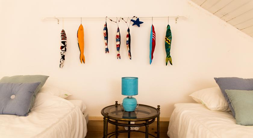 Twin bedrooms at Areia Branca Surf Hostel