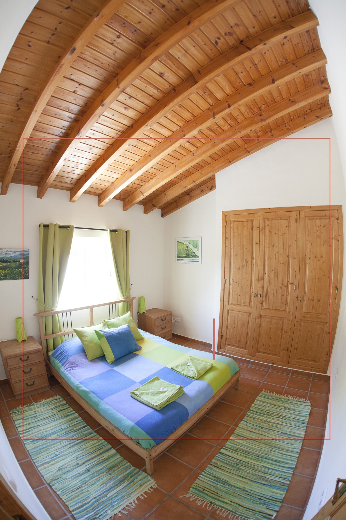Nicely decorated double bedroom at Arrifana Surf Camp