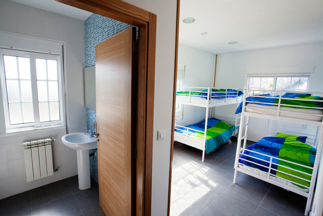 shared accommodation at Art Surf Camp