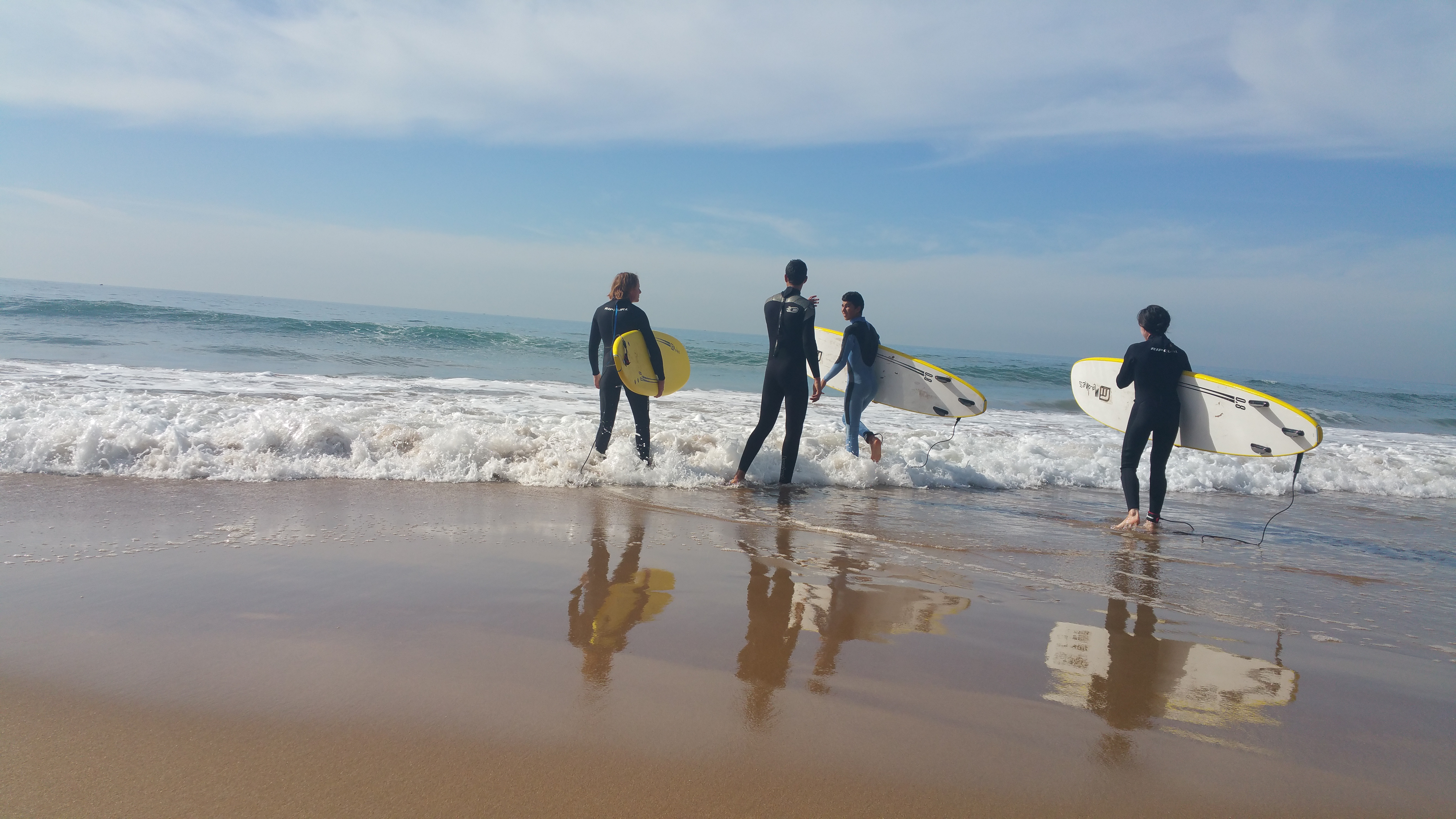 Time for surf lessons